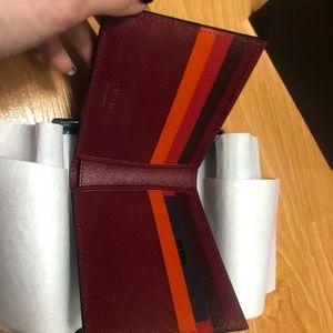 Prada Saffiano Multicolor Red Wallet